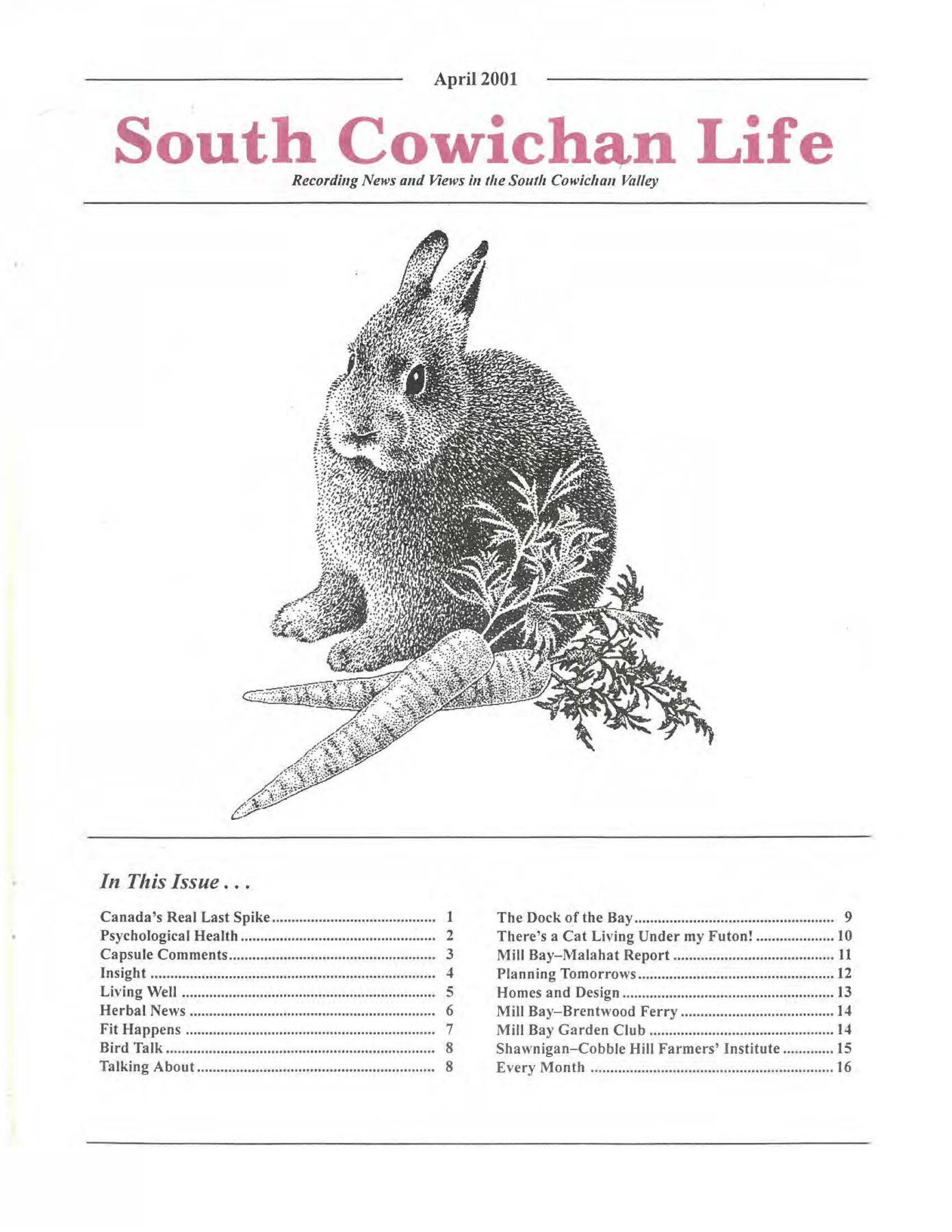 South Cowichan Life April 2001
